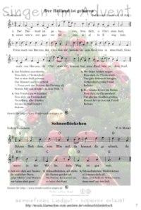 Singen im Advent gemeinfreies Liedgut