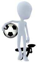 Konzept Figur mit Fussball / concept figure with soccer ball