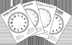 Kopiervorlage Uhr Arbeitsblätter Volksschullehrerin At
