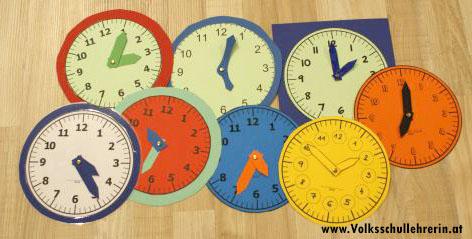 Kopiervorlage Uhr Arbeitsblätter Volksschullehrerinat