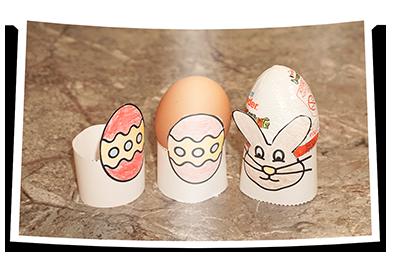 Bastelvorlage Eierbecher Bildnerische Erziehung